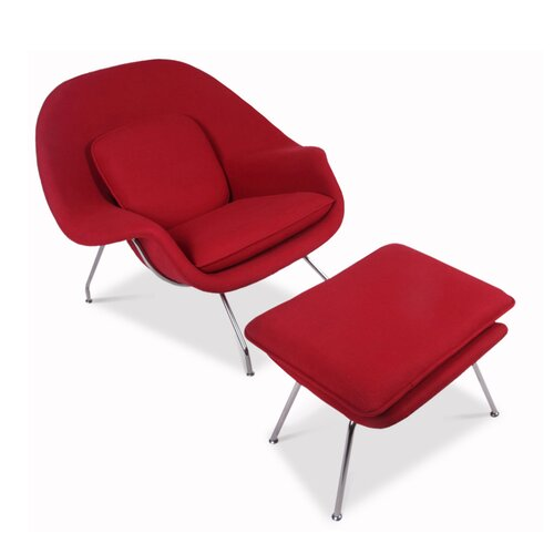 Eero Saarinen Womb Chair in rood