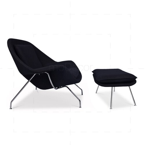 Eero Saarinen Womb Chair - Black