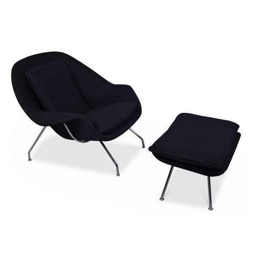 Eero Saarinen Womb Chair in zwart