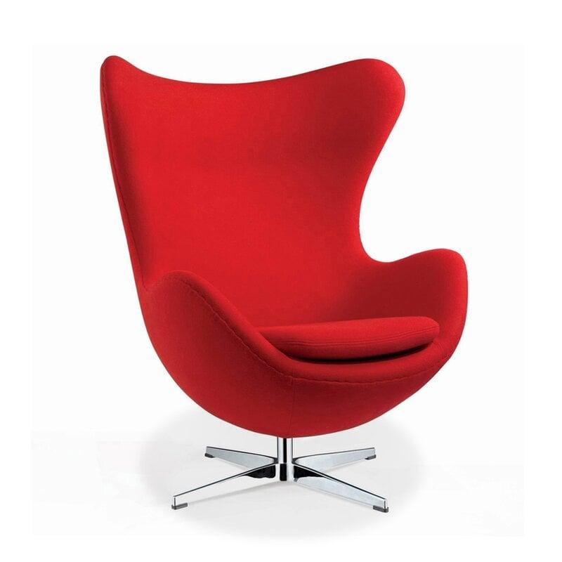 arne jacobsen egg chair mit rotem cashmere 887 00 modecor. Black Bedroom Furniture Sets. Home Design Ideas