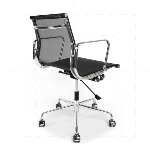 Eames Office Chair met gaasbekleding in zwart