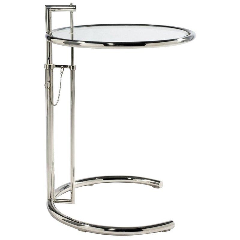 eileen gray verstellbarer glastisch e1027 150 00. Black Bedroom Furniture Sets. Home Design Ideas