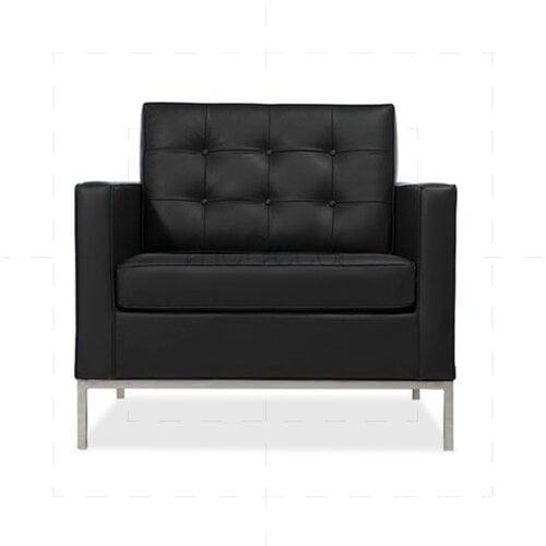 Loveseat sessel  Le Corbusier LC2 Sofa Zweisitzer mit schwarzem Leder, 846,00 € -