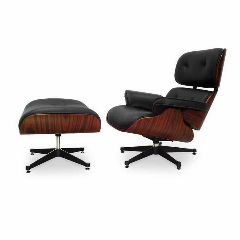 eames lounge chair und ottomane schwarz mit kirschholz 779 00 eur. Black Bedroom Furniture Sets. Home Design Ideas