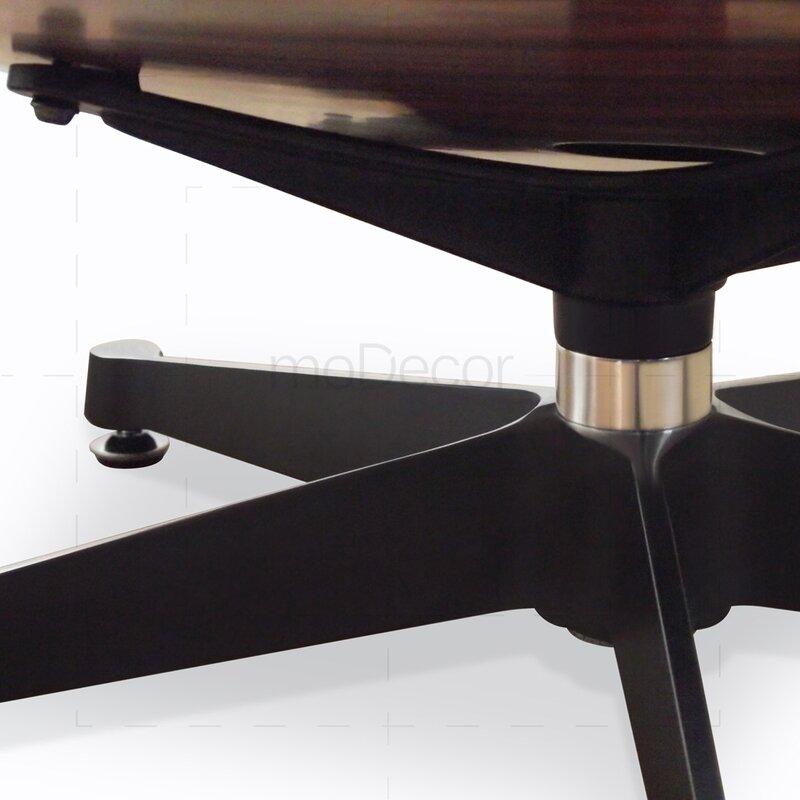 eames lounge chair und ottomane schwarz mit kirschholz. Black Bedroom Furniture Sets. Home Design Ideas
