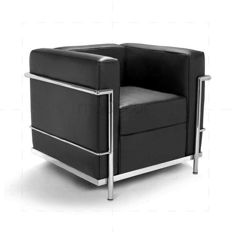 le corbusier lc2 armchair black. Black Bedroom Furniture Sets. Home Design Ideas