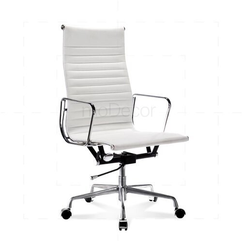 eames office chair replica toronto brown herman miller high ribbed leather white