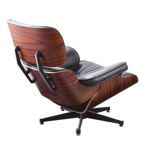 eames lounge chair schwarz mit rosenholz 699 00 modecor. Black Bedroom Furniture Sets. Home Design Ideas