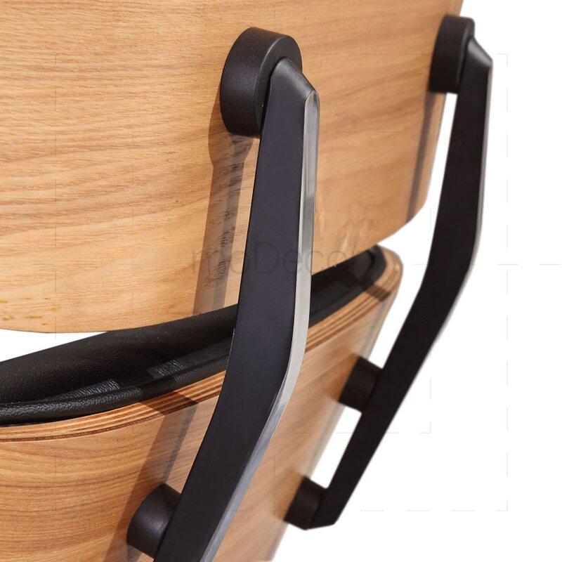 eames lounge chair schwarz mit eichenholz 699 00 modecor. Black Bedroom Furniture Sets. Home Design Ideas
