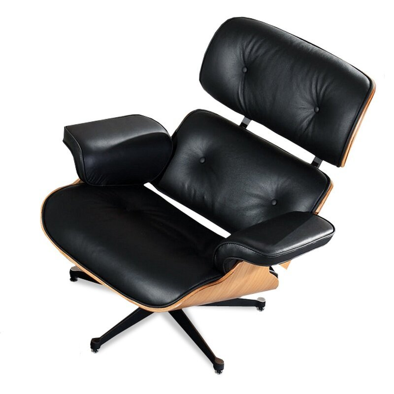 eames lounge chair schwarz mit eichenholz. Black Bedroom Furniture Sets. Home Design Ideas