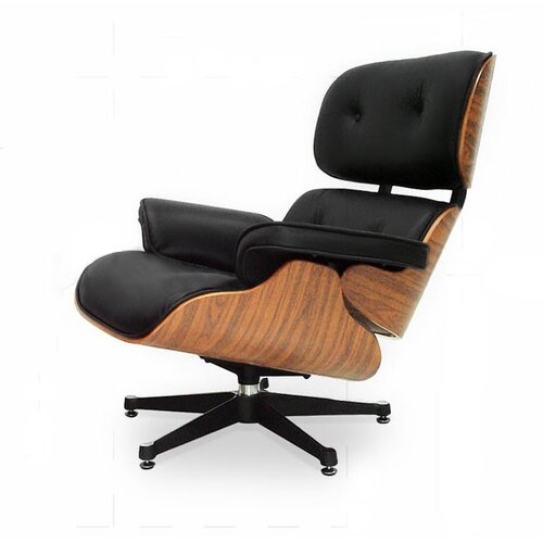 Eames Lounge Chair - Black with Oak Wood