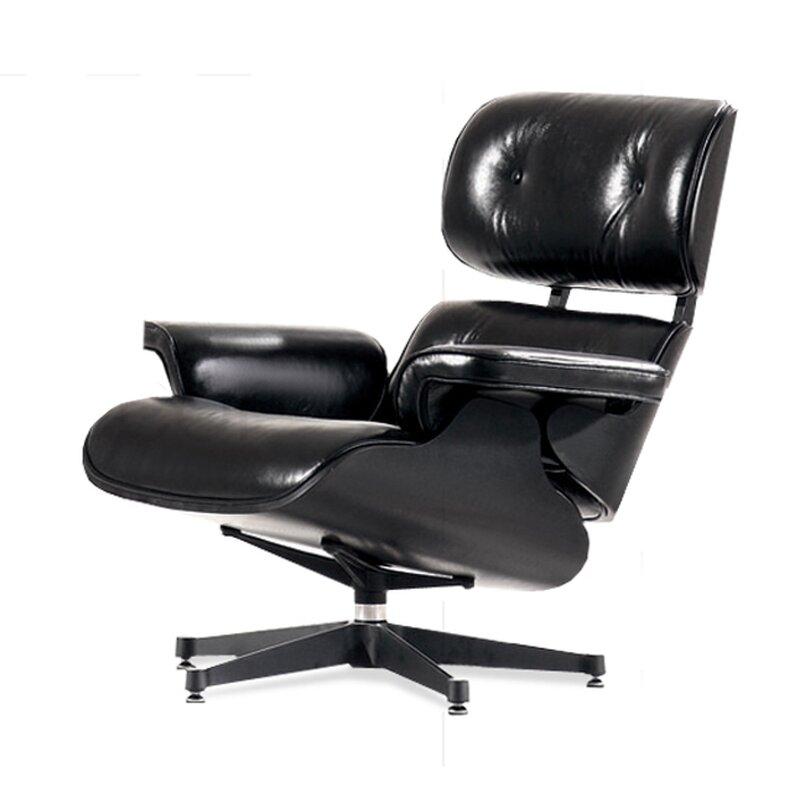 eames lounge chair schwarz mit schwarzem holz 799 00. Black Bedroom Furniture Sets. Home Design Ideas