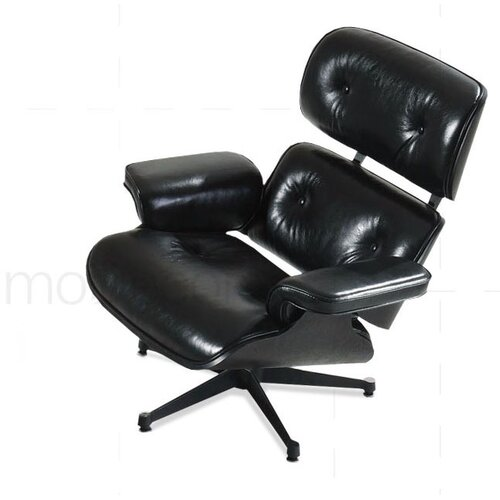 Eames Lounge Chair - Black with Black Wood