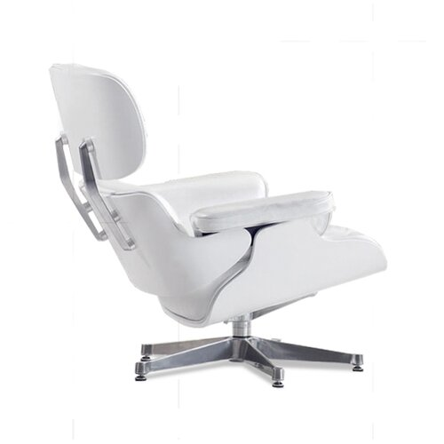 Eames Lounge Chair - Perlwhite with white Wood