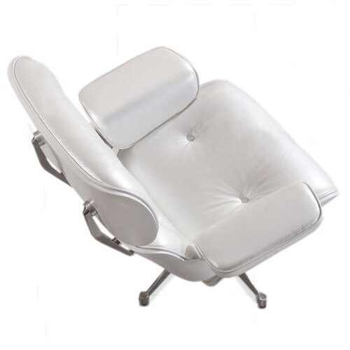 Eames Lounge Chair - parelwit met wit hout