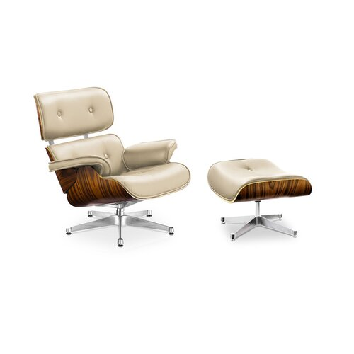 Eames Lounge Chair and Ottoman - Black with Palisander