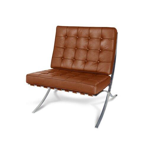 le corbusier lc2 sofa dreisitzer mit cognac leder. Black Bedroom Furniture Sets. Home Design Ideas