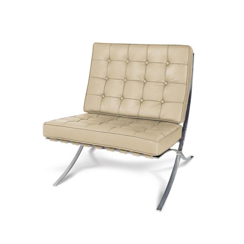 barcelona sessel in cream 552 00 modecor hochwertige desi. Black Bedroom Furniture Sets. Home Design Ideas