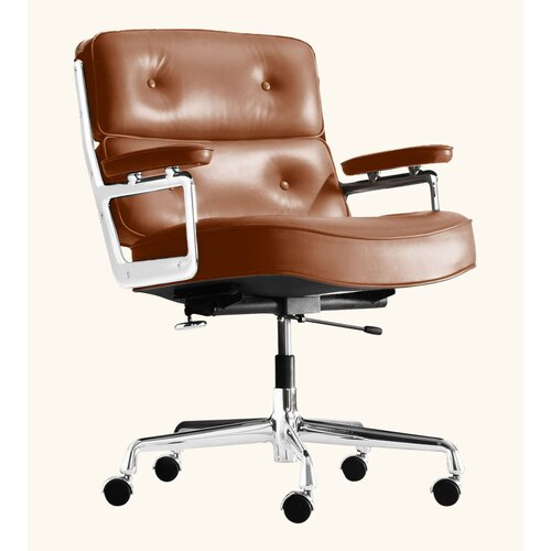 Eames Lobby Chair EA 104 in Cognac