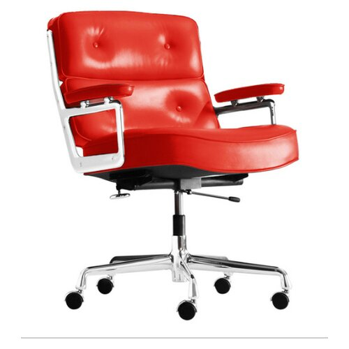 Eames Lobby Chair EA 104 in Rot