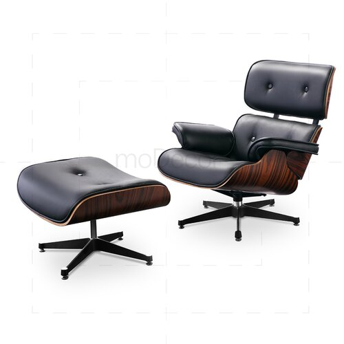 eames lounge chair und ottomane schwarz mit rosenholz 779 00 euro. Black Bedroom Furniture Sets. Home Design Ideas