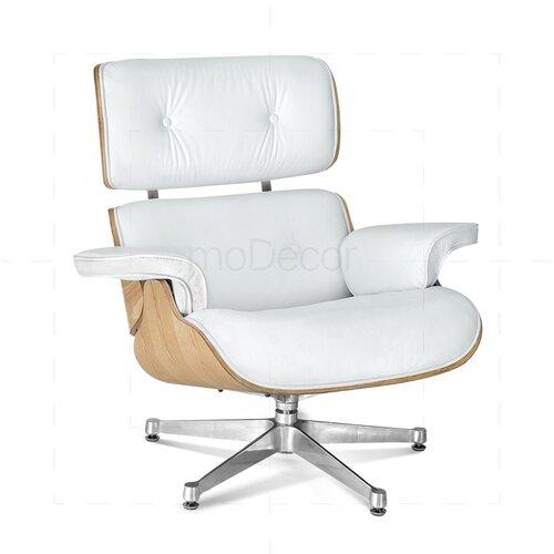 ... Eames Lounge Chair Und Ottomane   Weiß Mit Eichenholz ...