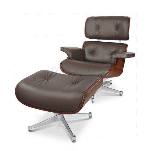Eames Lounge Chair Und Ottomane   Braun Mit Palisander ...