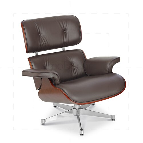 Eames Lounge Chair and Ottoman - Brown with Palisander