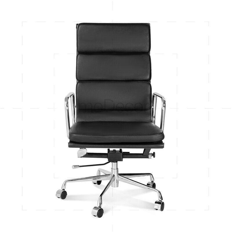 hoher eames office chair mit weichem polster in schwarz 330 00 euro. Black Bedroom Furniture Sets. Home Design Ideas