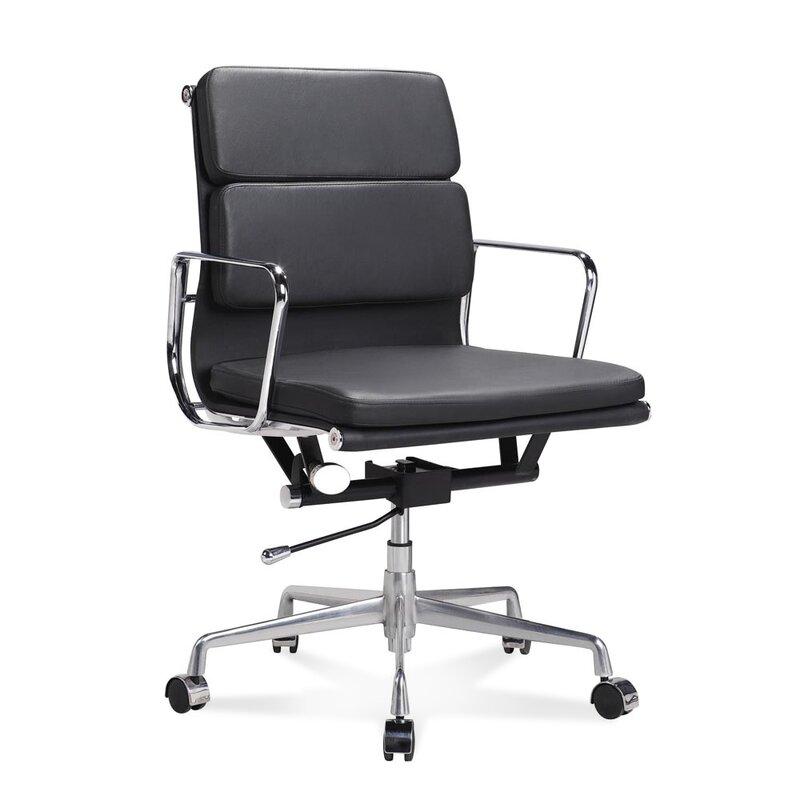 halbhoher eames office chair mit weichem polster in. Black Bedroom Furniture Sets. Home Design Ideas