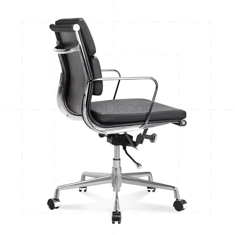 halbhoher eames office chair mit weichem polster in schwarz 330 00. Black Bedroom Furniture Sets. Home Design Ideas