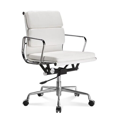 Eames Office Chair - Low Back - Soft Pad - White