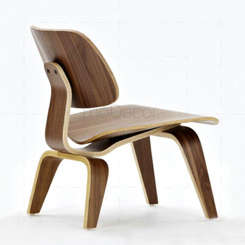 Eames chair lcw stuhl aus rosenholz 227 00 modecor for Eames stuhl