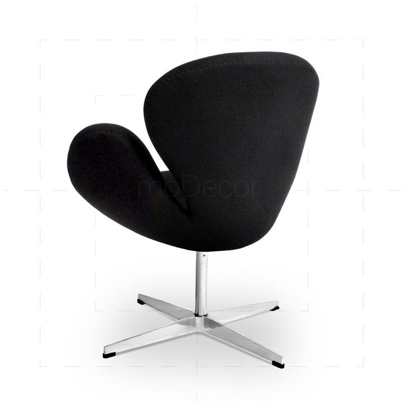 arne jacobsen schwan stuhl in schwarz 452 00 modecor. Black Bedroom Furniture Sets. Home Design Ideas