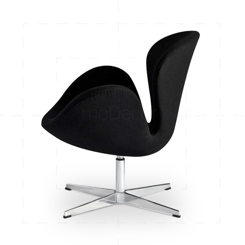 arne jacobsen swan chair in zwart 467 19. Black Bedroom Furniture Sets. Home Design Ideas