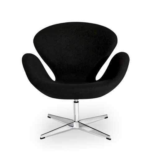 Arne Jacobsen Swan Chair in Schwarz