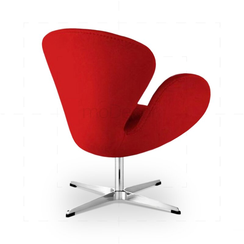 arne jacobsen swan chair red. Black Bedroom Furniture Sets. Home Design Ideas