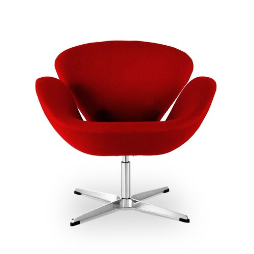 Arne Jacobsen Swan Chair in rood