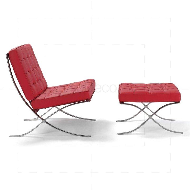 Barcelona sessel in rot 450 00 modecor hochwertige for Sessel in rot