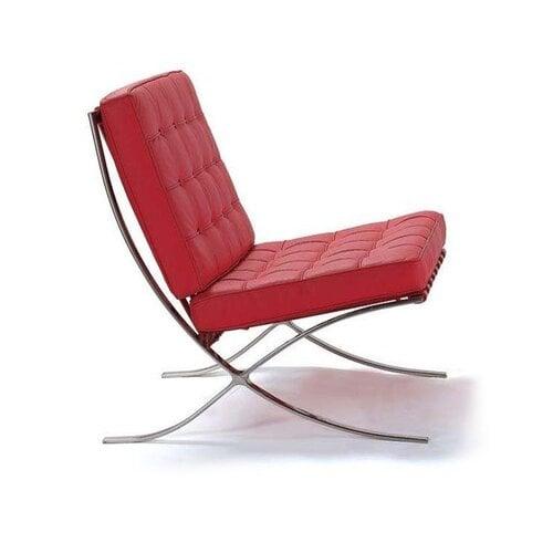 barcelona sessel in rot 450 00 modecor hochwertige. Black Bedroom Furniture Sets. Home Design Ideas