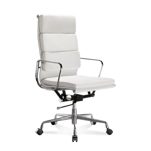 Eames Office Chair - High Back - Soft Pad - White