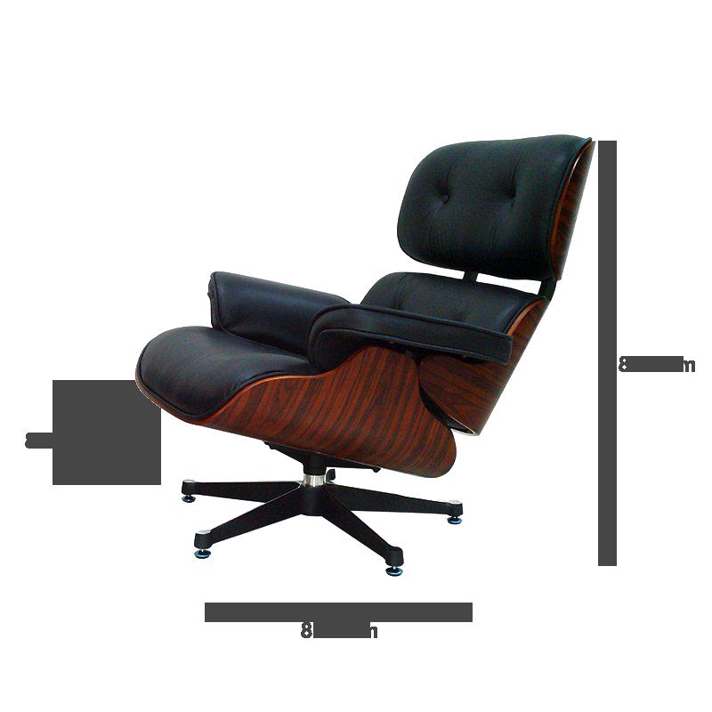 eames lounge chair wei mit eichenholz 699 00 modec. Black Bedroom Furniture Sets. Home Design Ideas